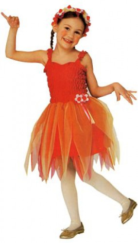 Rotes Ballerina Feenkostüm für Mädchen