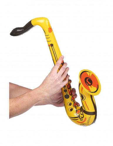 Aufblasbares Saxophon gelb-1