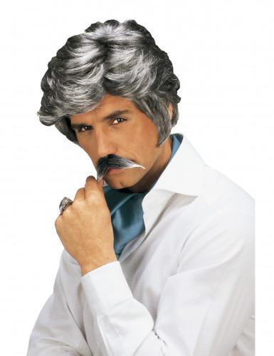 Casanova-Perücke und -Schnurrbart für Herren