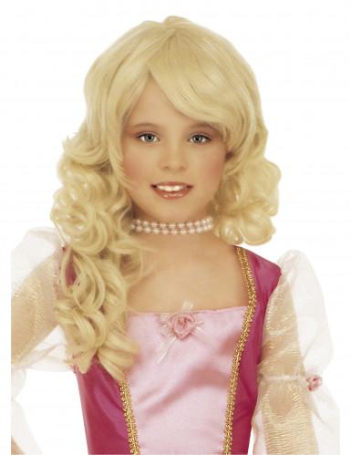 Blonde Prinzessin-Perücke für Mädchen