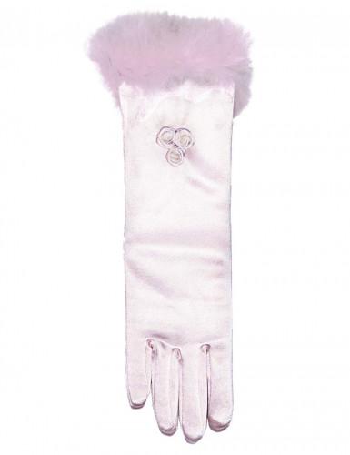 Halblange rosa Handschuhe für Kinder