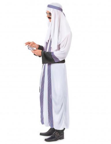 Arabischer-Scheich-Kostüm für Herren weiß mit blau-roten Streifen-1