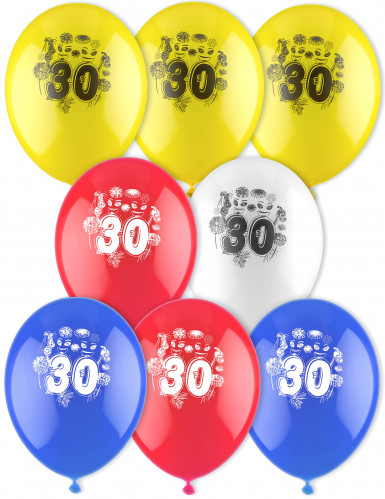 8 Luftballons 30. Geburtstag