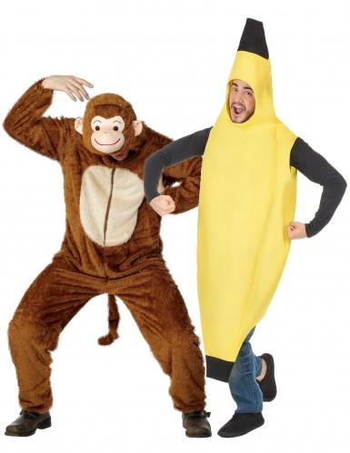 Affen- und Bananen-Kostüm für Erwachsene