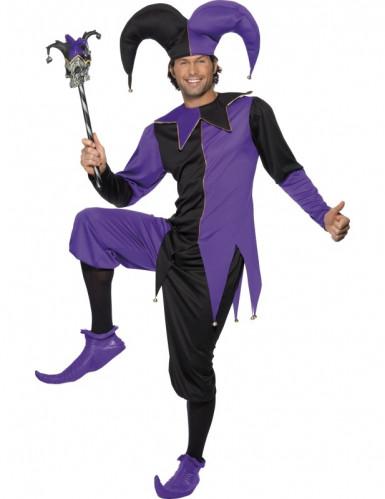 Mittelalterliches Hofnarren-Kostüm für Herren