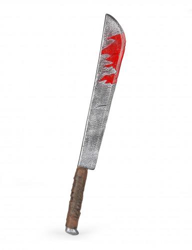 Blutiges Hackmesser aus Kunststoff Halloween