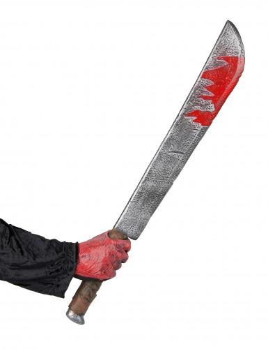 Blutiges Hackmesser aus Kunststoff Halloween-1