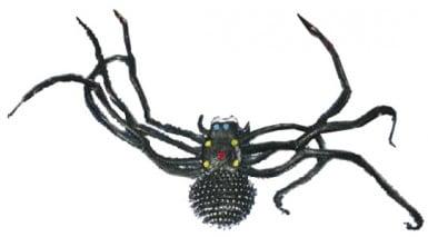 Riesen schwarze Halloweenspinne
