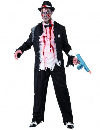 Zombie-Gangster Herrenkostüm Halloween