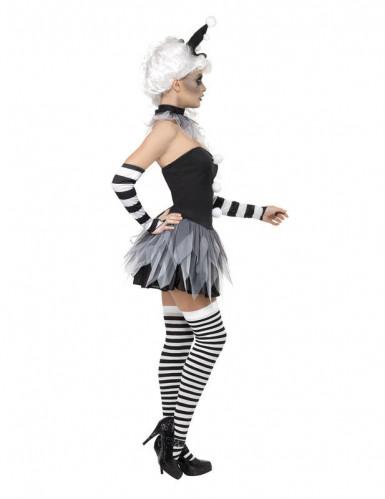 Sexy Pierrot-Kostüm Halloween für Damen-1