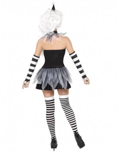Sexy Pierrot-Kostüm Halloween für Damen-2
