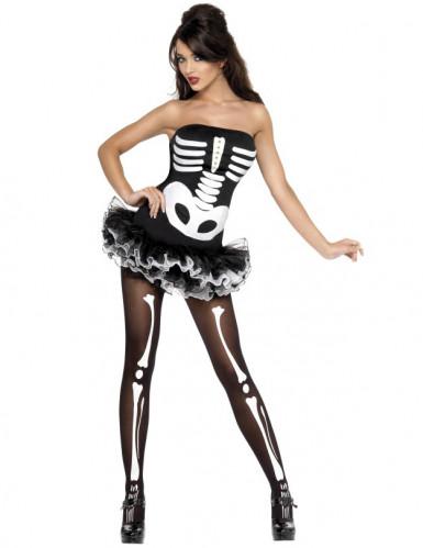Sexy Halloween Skelett-Kostüm für Damen