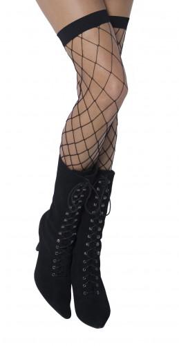 Schwarze Halloween-Netzstrümpfe für Erwachsene