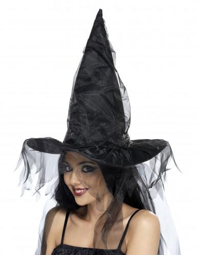 Halloween-Hexenhut für Erwachsene schwarz