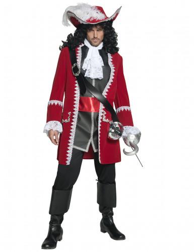 Authentisches Piratenkapitäns-Kostüm für Herren