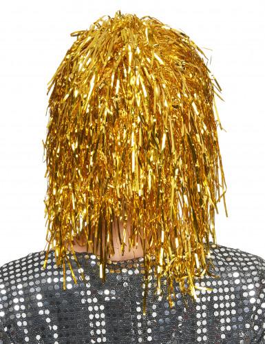 Folienperücke Lametta gold für Damen-1
