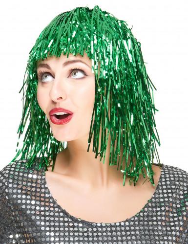 Grüne Perücke für Damen