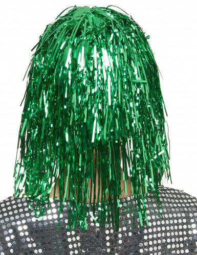 Perücke für Damen grün 25cm-1