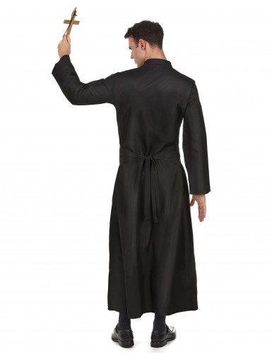 Priester-Herrenkostüm schwarz-weiss-2