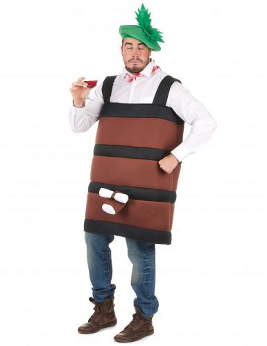 Witziges Weinfass-Kostüm für Herren braun-1