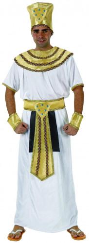 Pharao-Herrenkostüm goldfarben-blau-weiss