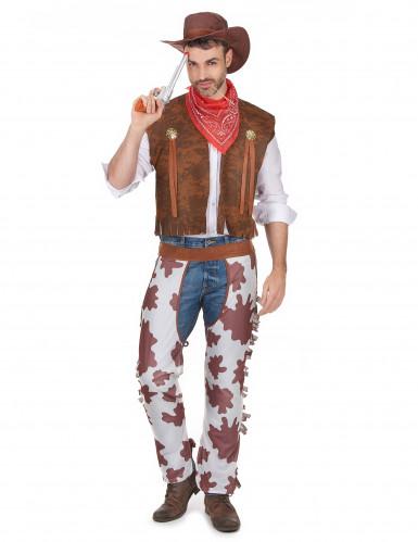 Cowboy-Kostüm für Herren braun-weiss