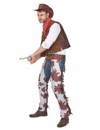 Cowboy-Kostüm für Herren braun-weiss-1