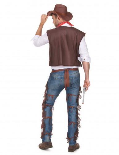 Cowboy-Kostüm für Herren braun-weiss-2