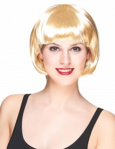 Blonde Kurzhaar-Perücke für Damen
