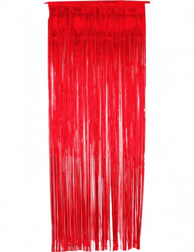 Roter, glänzender Vorhang
