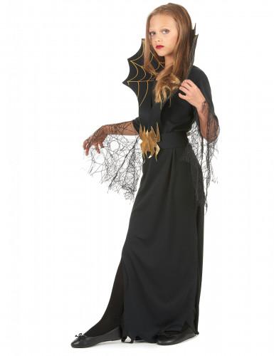 Spinnenköniginnen-Kostüm Halloween für Mädchen-1