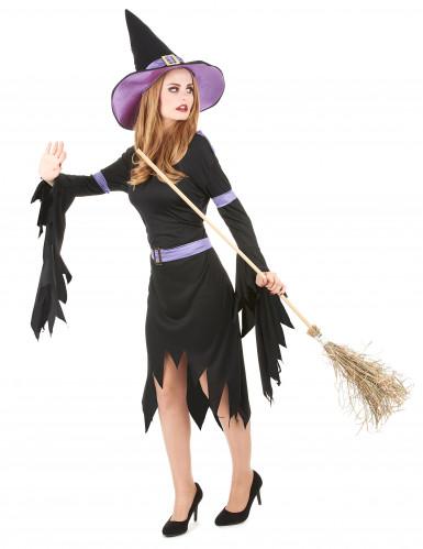 Hexenkostüm Glamour Halloween für Damen-1