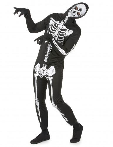 Skelett-Horrorkostüm für Herren schwarz-weiss-1