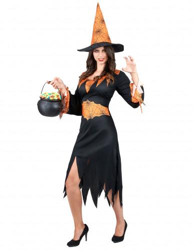 Spinnen Hexen-Kostüm Halloween für Damen-1
