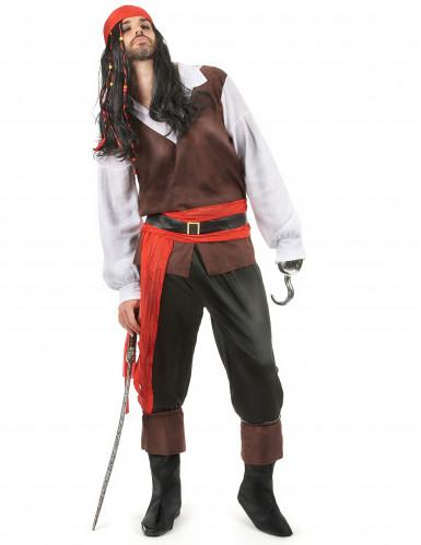 Seeräuber-Kostüm für Herren bunt
