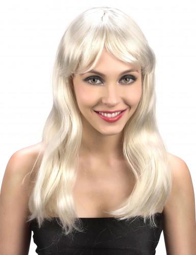 Langhaarperücke blond für Damen