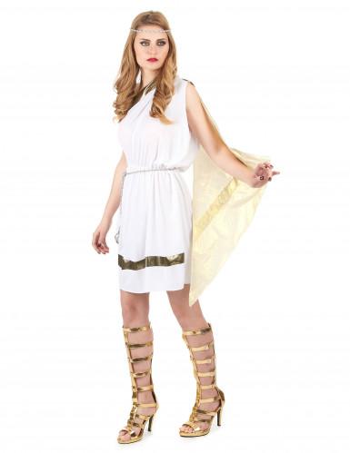 Elegantes Römerinnen-Kostüm für Damen weiss-goldfarben-1
