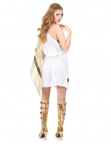 Elegantes Römerinnen-Kostüm für Damen weiss-goldfarben-2