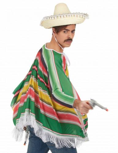 Mexikaner-Kostüm Poncho für Herren bunt-2