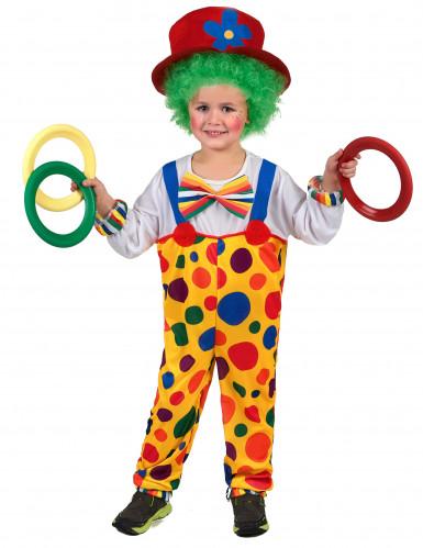 Jongleur Clownskostüm für Kinder bunt
