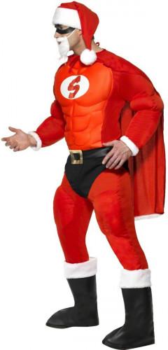Muskulöses Super-Weihnachtsmann Kostüm für Herren-2