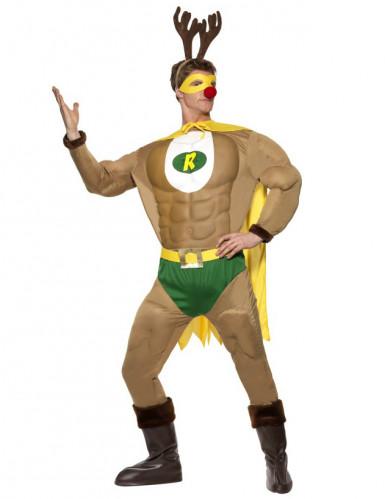 Muskulöses Super-Rentier-Kostüm für Herren