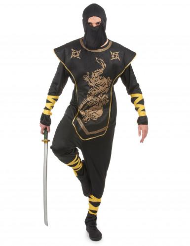 Ninjakostüm gold für Herren