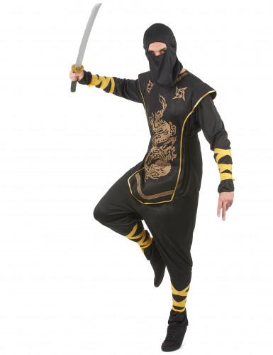 Ninjakostüm gold für Herren-2