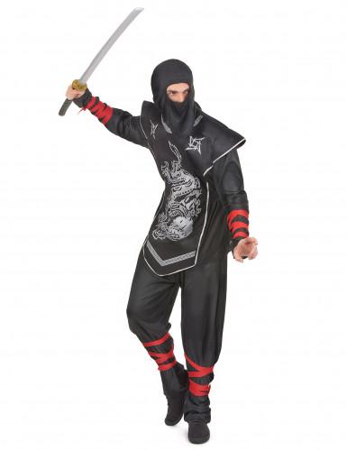 Ninjakostüm silber für Herren