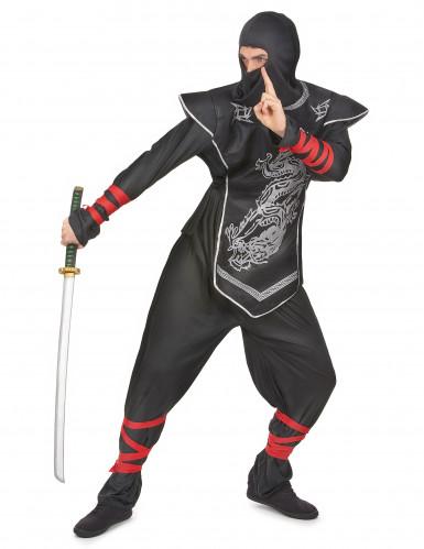 Ninjakostüm silber für Herren-1