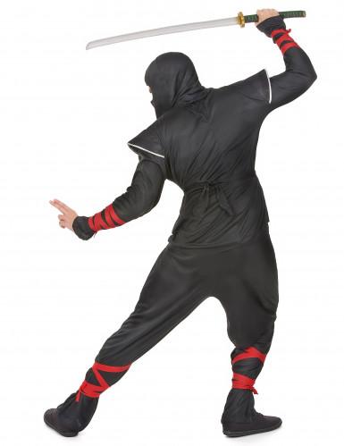 Ninjakostüm silber für Herren-2