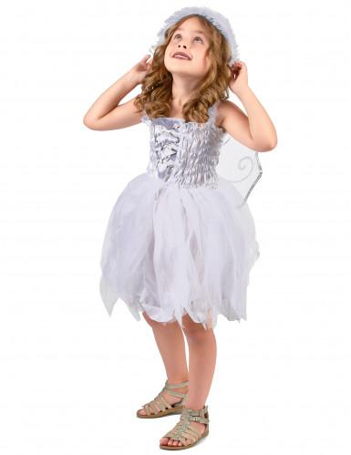 Engel-Prinzessinkostüm für Mädchen weiss-silberfarben-1