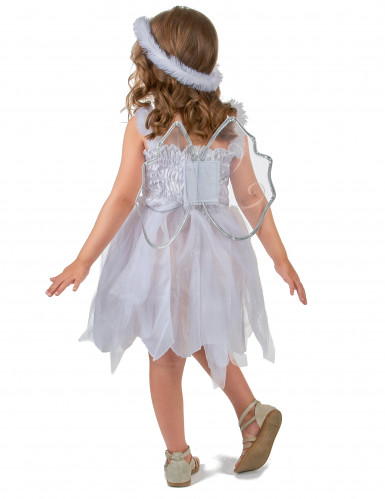 Engel-Prinzessinkostüm für Mädchen weiss-silberfarben-2