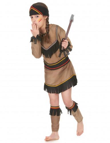 Indianerinnen-Mädchenkostüm bunt-1